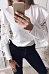 Round Neck  Flounce  Lace Patchwork Plain T-Shirts