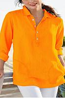 Commuting Bracelet Sleeve Turndown Collar Loose-Fitting Plain Shirt