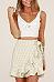 Flounce  Belt  Striped Skirts