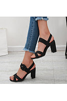 Women's chunky high heel sandals