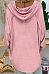 Cute Hooded Long Sleeve Pure Colour T-Shirt