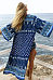 Snap Front Bohemian Printed Long Sleeve Kimono