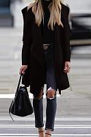 Lapel  Plain  Basic Outerwear