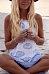 Halter  Backless  Printed  Sleeveless Casual Dresses