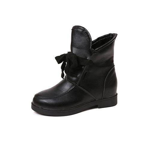 Plain Shoes  Leather Booties