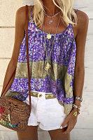 Sleeveless Printed Casual Vest