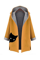 Hooded  Printed  Coat
