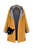 Hooded  Printed  Coat