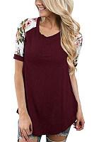 Round Neck Short Sleeve Plain T-Shirt