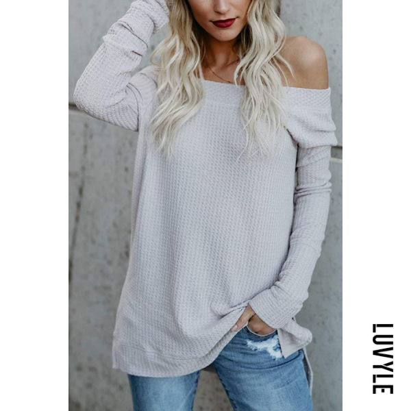 White One Shoulder Plain T-Shirts White One Shoulder Plain T-Shirts