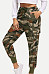 Drawstring  Camouflage  Casual Pants