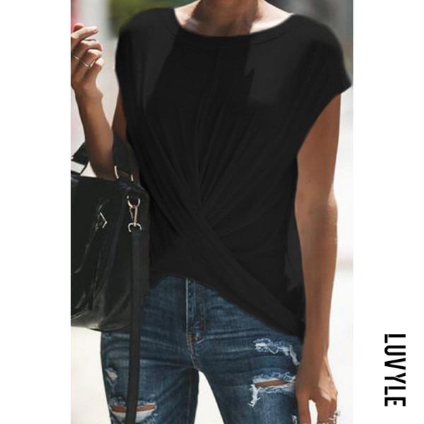 Black Casual Pure Clor T-Shirt Black Casual Pure Clor T-Shirt