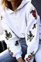 Fashion Casual Hooded Print Sweatshirt