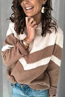 Short High Collar Colouring Sweater