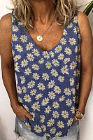 Daisy Printed Loose Vest