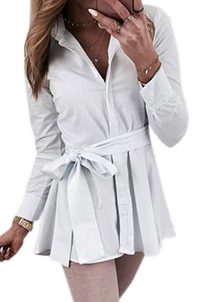 Tachibana Long Sleeve Plain Blouse