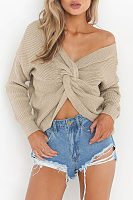 V Neck  Two Way Sweaters