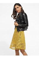 Zips Lapel Leather Plain Jackets