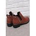 Rivet  Plain Boots  Low Heel Boots