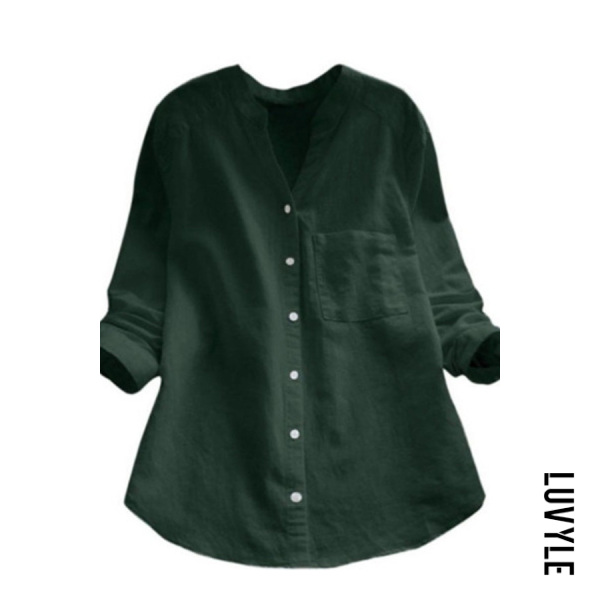 Explosive solid color casual loose shirt