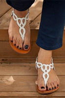 Hollow Out  Flat  Peep Toe  Casual Date Outdoor Flat Sandals