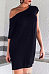 Open Shoulder  Plain Casual Dresses