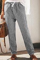 Women Striped Casual Long Pants