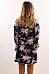 Off Shoulder  Asymmetric Hem  Belt Loops  Printed  Three Quarter Sleeve Casual Dresses