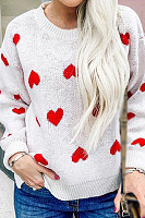 Women's Sweet Long Sleeve Love Sweater