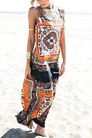 Spaghetti Strap  Tribal Printed Maxi Dresses