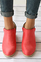 Short Plain  Basic Boots