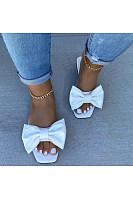 Women's bow slippers