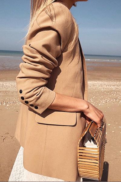 Long Sleeve Solid Color Elegant Blazer