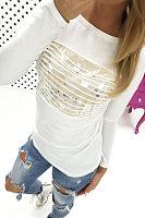 Round Neck  Patchwork T-Shirts