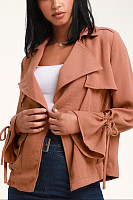 Women Casual Plain Jackets