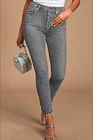 Denim color personality fashion tight casual leggings