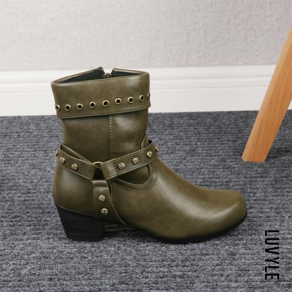Women's Thick Heel Martin Boots