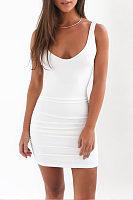 Backless  Plain  Sleeveless Bodycon Dresses