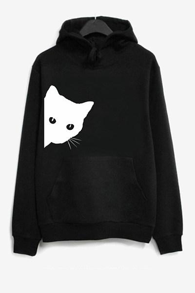Women's casual long sleeve animal print sweatshirt