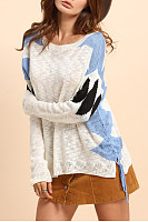 Round Neck Color Block Knitwear
