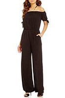 Summer Elegant Pure Color Soft Jumpsuit