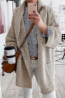 Casual Loose-Fitting Plain Outerwear