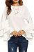 Round Neck  Cascading Ruffles  Plain  Bell Sleeve T-Shirts