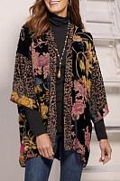 Stylish temperament print cardigan jacket