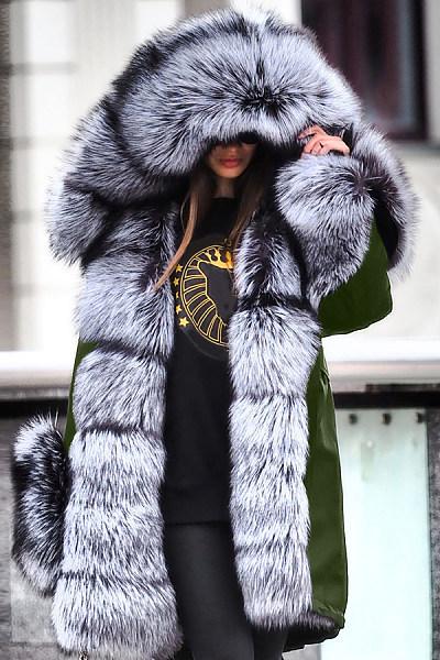 Noble Luxury Punk Style Faux Fur Overcoat