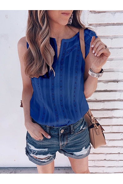 Casual And Loose Printed Sleeveless T-Shirt