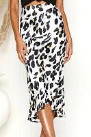 Leopard Printed  Elegant  Skirts