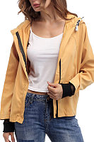Hooded  Drawstring Outerwear