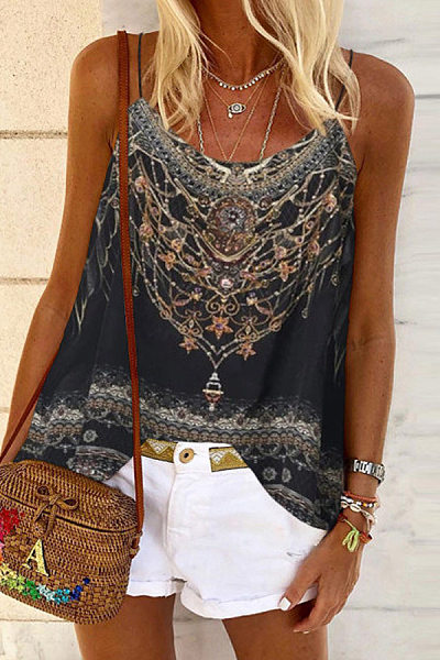 Printed Loose Casual Camisole