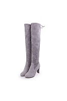 Thigh High High heeled Chunky Point Toe Boots